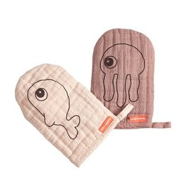 DONE BY DEER WASH CLOTH 2PACK - POWDER