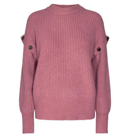 Co'couture CO'COUTURE ROWIE BUTTON KNIT - PINK