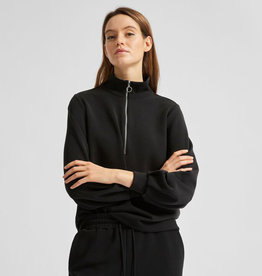 Selected Femme SELECTED FEMME TENNY ZIP SWEATER - BLACK