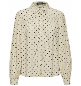 Soaked SOAKED IN LUXURY ODA SHIRT DOTS - WHITE