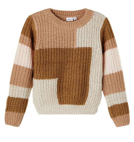 NAME IT FRINEW KNIT - BROWN