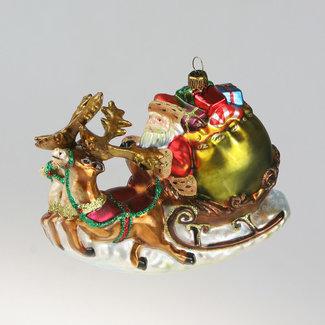 Komozja Santa In Sled With Reindeer