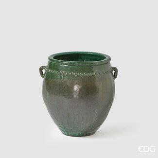 Enzo De Gaspari Green Vase 'Fenice Anfora' (H69cm / ø42cm)