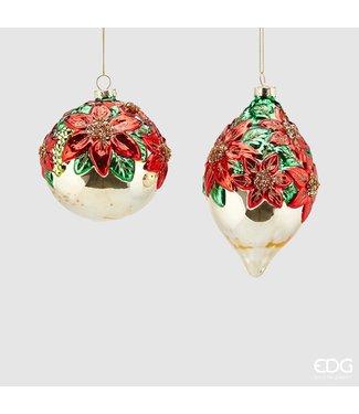 Glass Christmas Ball or Cone (11cm)