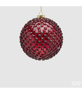 Glass Christmas Ball 'Gems' (ø12cm)