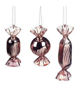 Glass Candy Pink Ornament (10cm)
