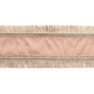 Goodwill Fringed Edges Ribbon Pink 10cm (Price per Meter)