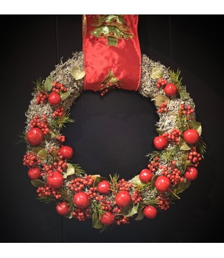 Hanging Christmas Wreath ø 32cm (red)