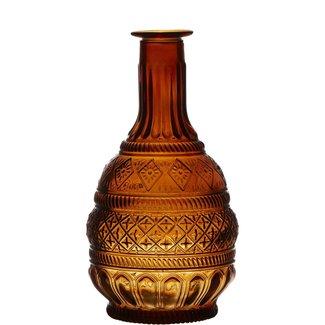 Daniel Ost Bottle Pattern Amber H23 D10,5