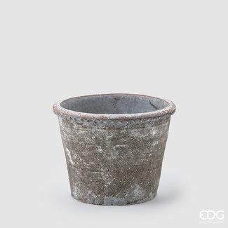 Enzo De Gaspari Antique Grey Pot H20 D26