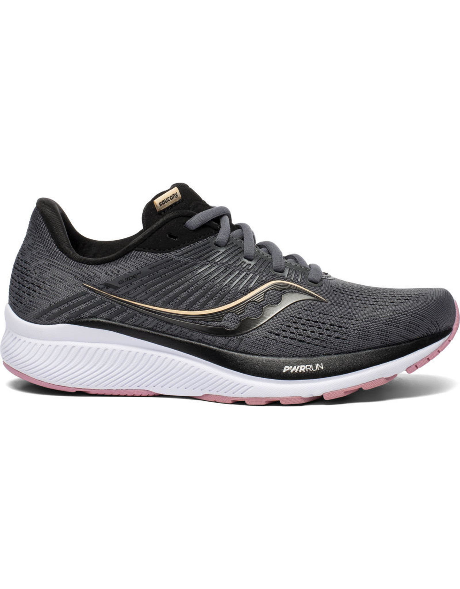 Saucony GUIDE 14 - CHARCOAL/ROSE-Dames