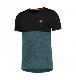 Rogelli Running T-Shirt Essence Blauw/Zwart/Oranje