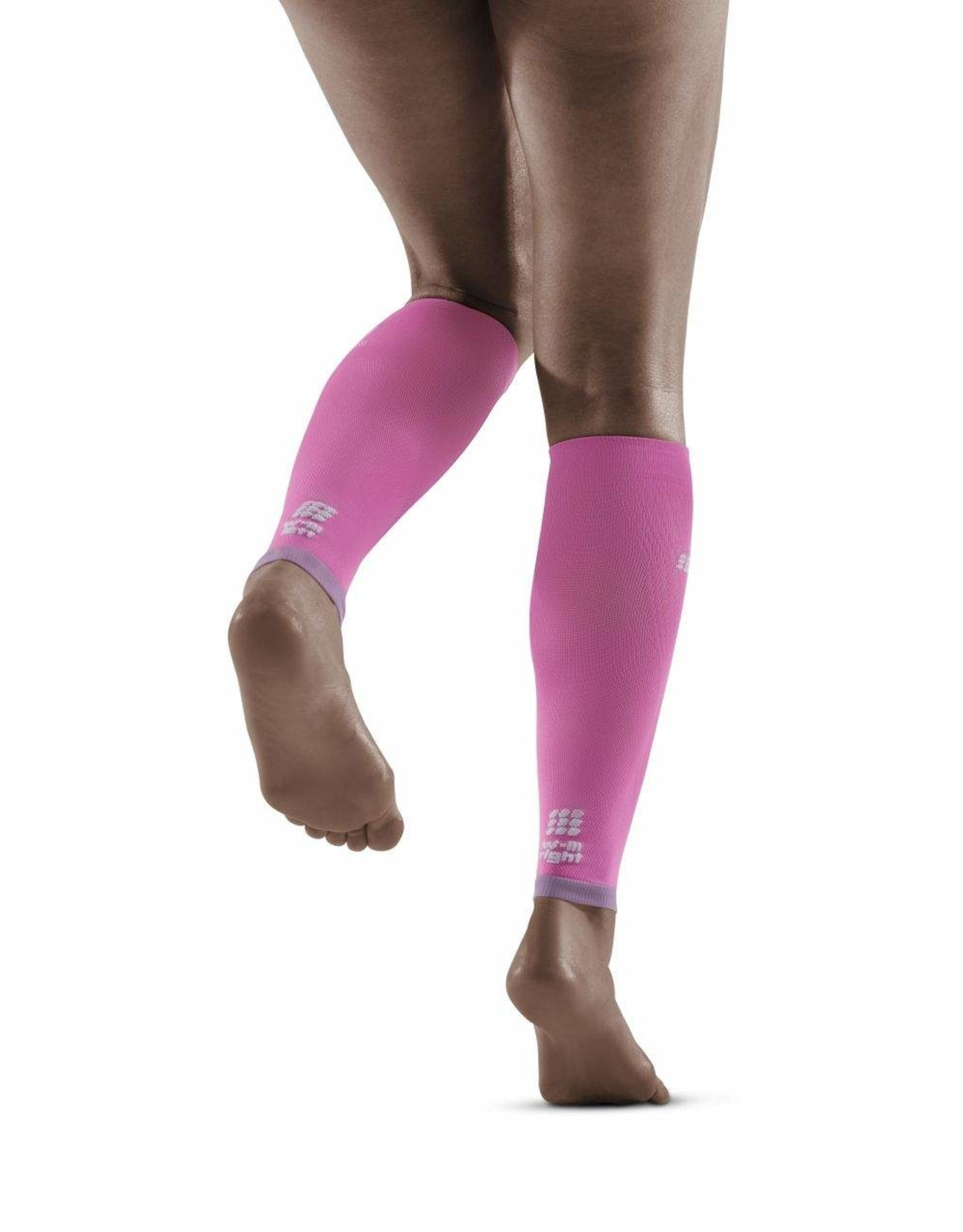 Cep ULTRALIGHT CALF SLEEVES WOMAN-electric pink/light grey