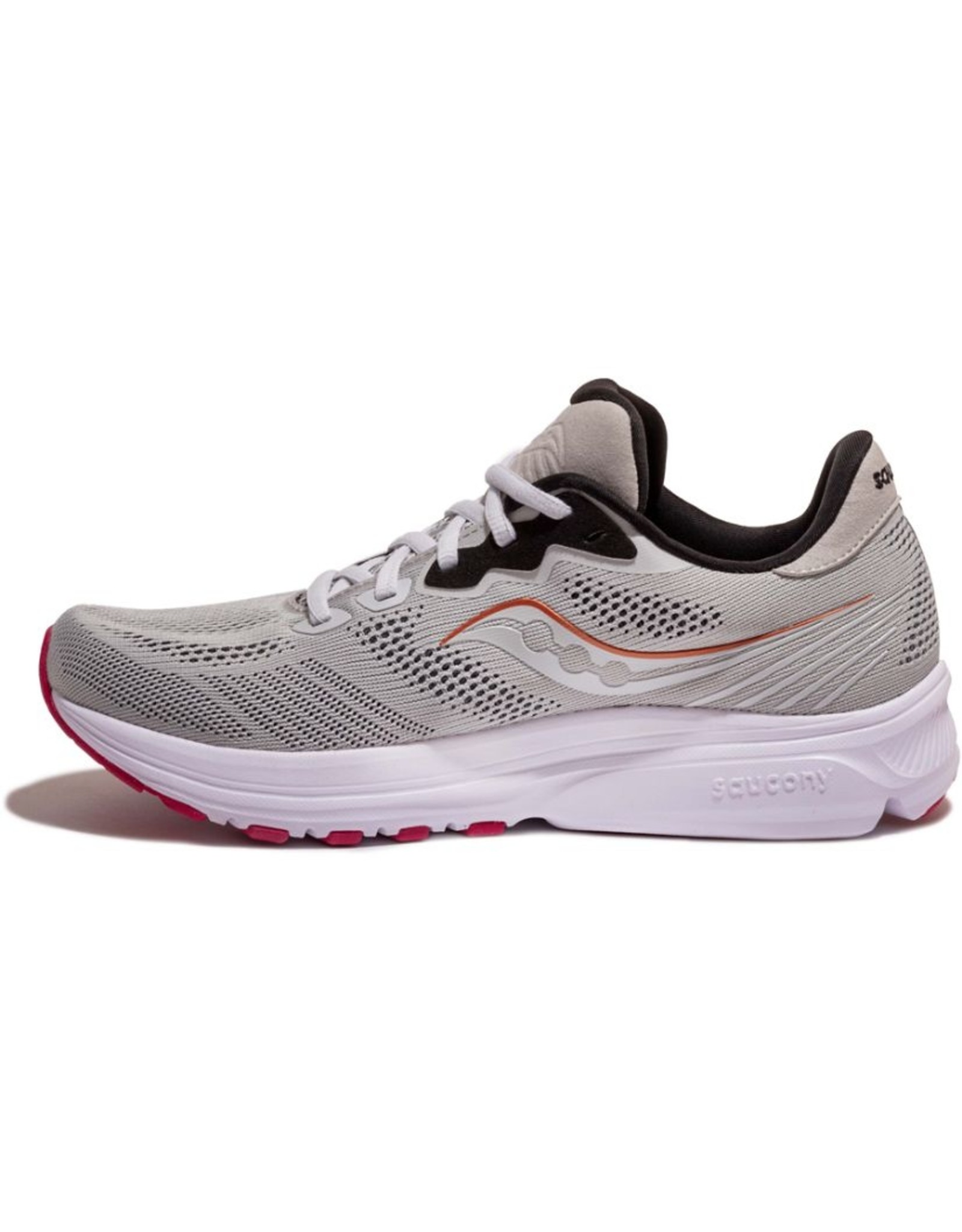 Saucony RIDE 14 - FOG/CHERRY-Dames