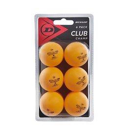 Dunlop D TT BL 40+ CLUB CHAMP 6 BALL BLISTER ORG