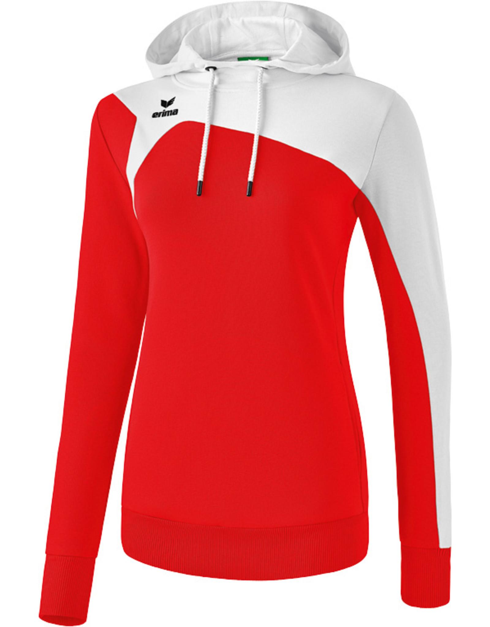 Erima CLUB 1900 2.0 hoodie-red/white-Dames