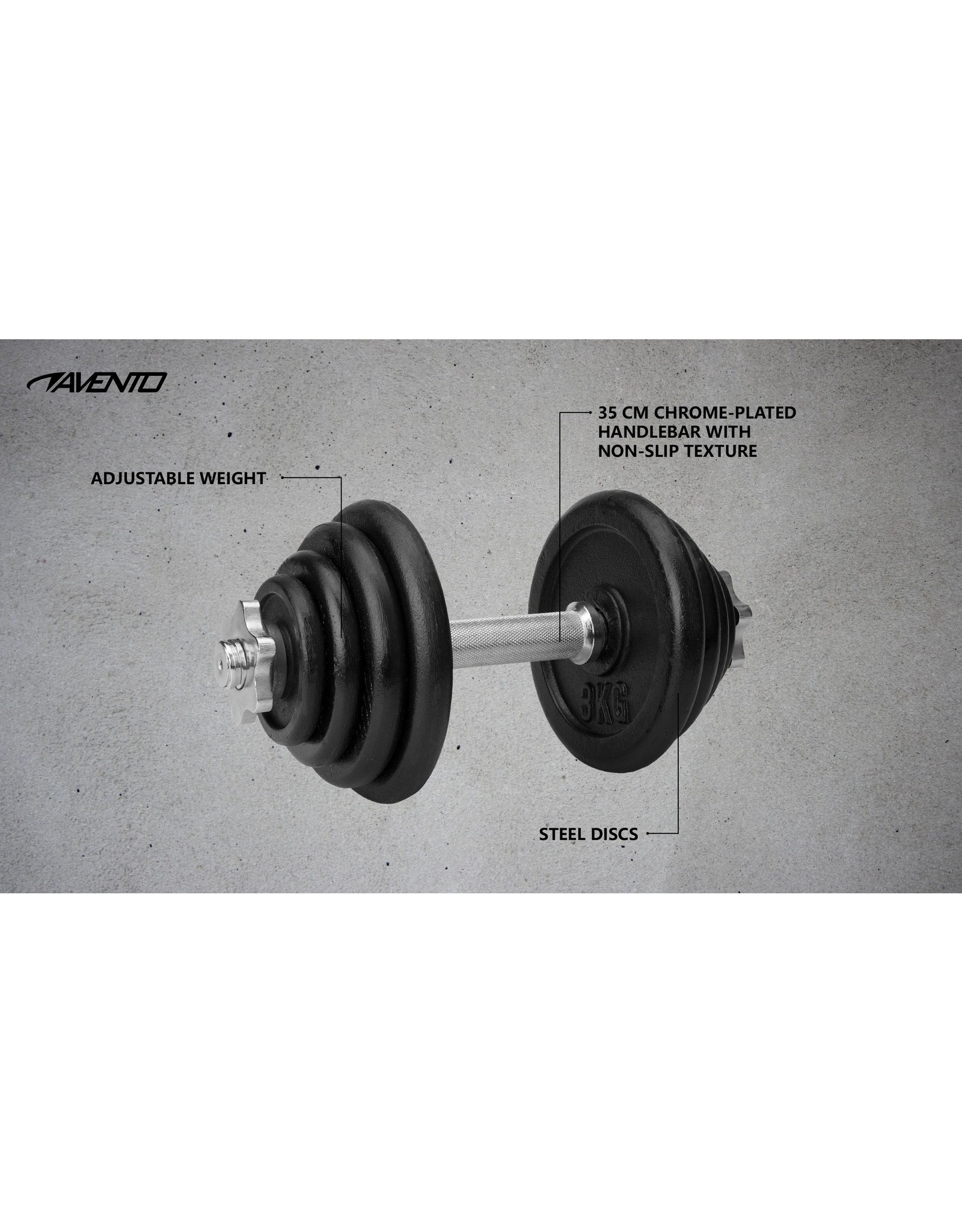 Avento Halter Verstelbaar Staal • 15 kg •