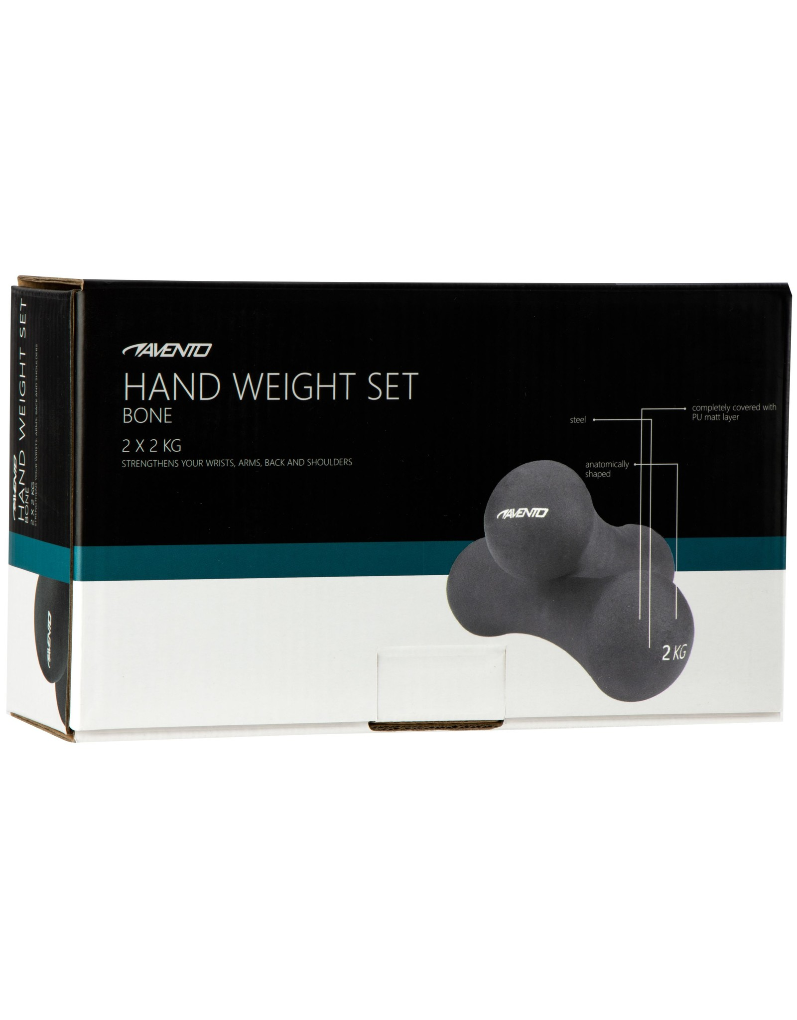Avento Handgewicht Set • Bone - 2x 2 kg •