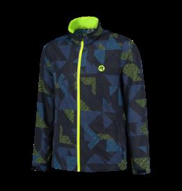 Rogelli Runningjack Electro blauw/zwart/fluor-geel