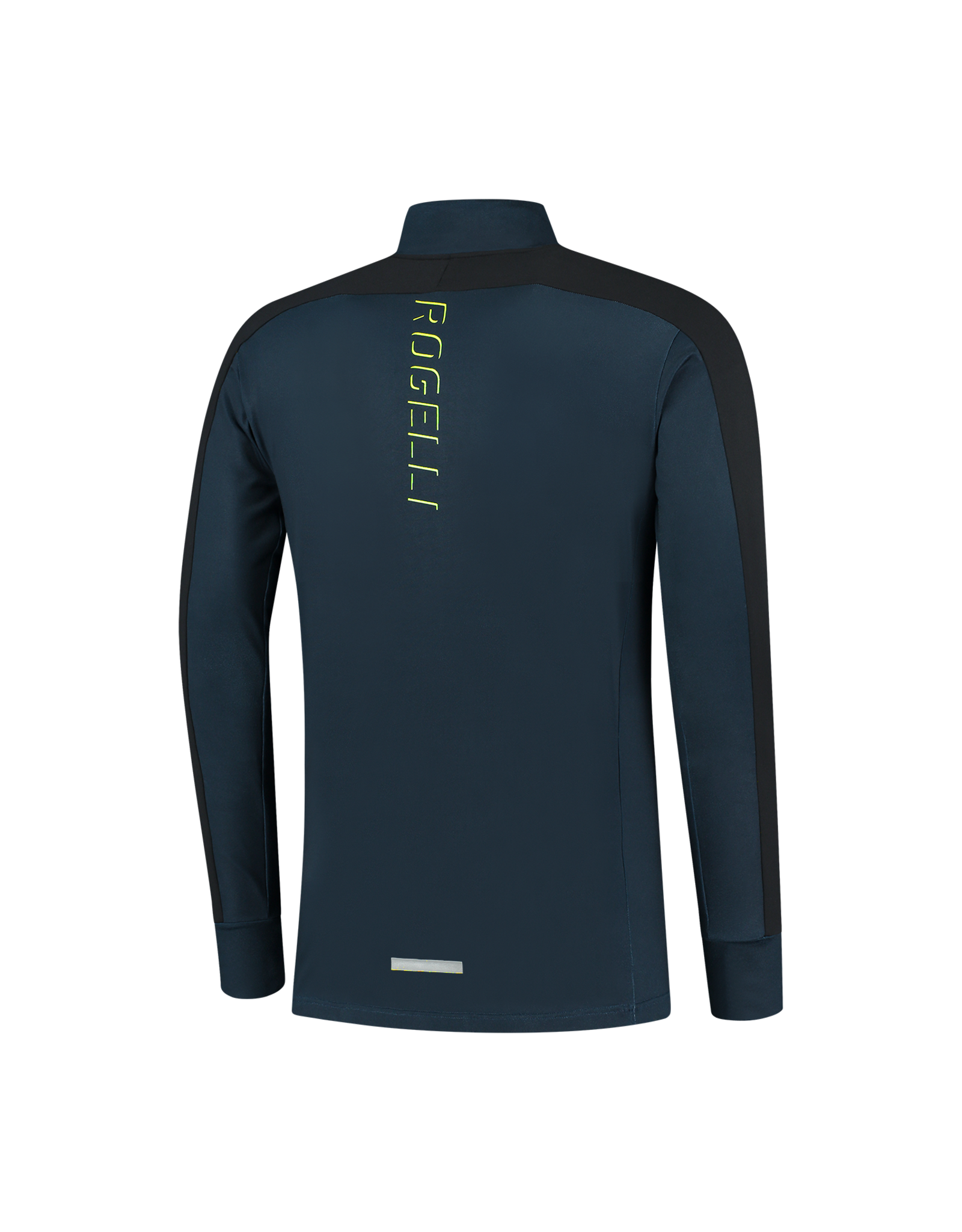 Rogelli Runningtop LM Electro blauw/zwart/fluor-geel