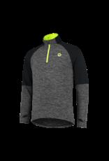 Rogelli Runningtop LM Enjoy zwart/fluor-geel