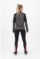 Rogelli Ds Runningtop LM Enjoy melange/zwart/roze