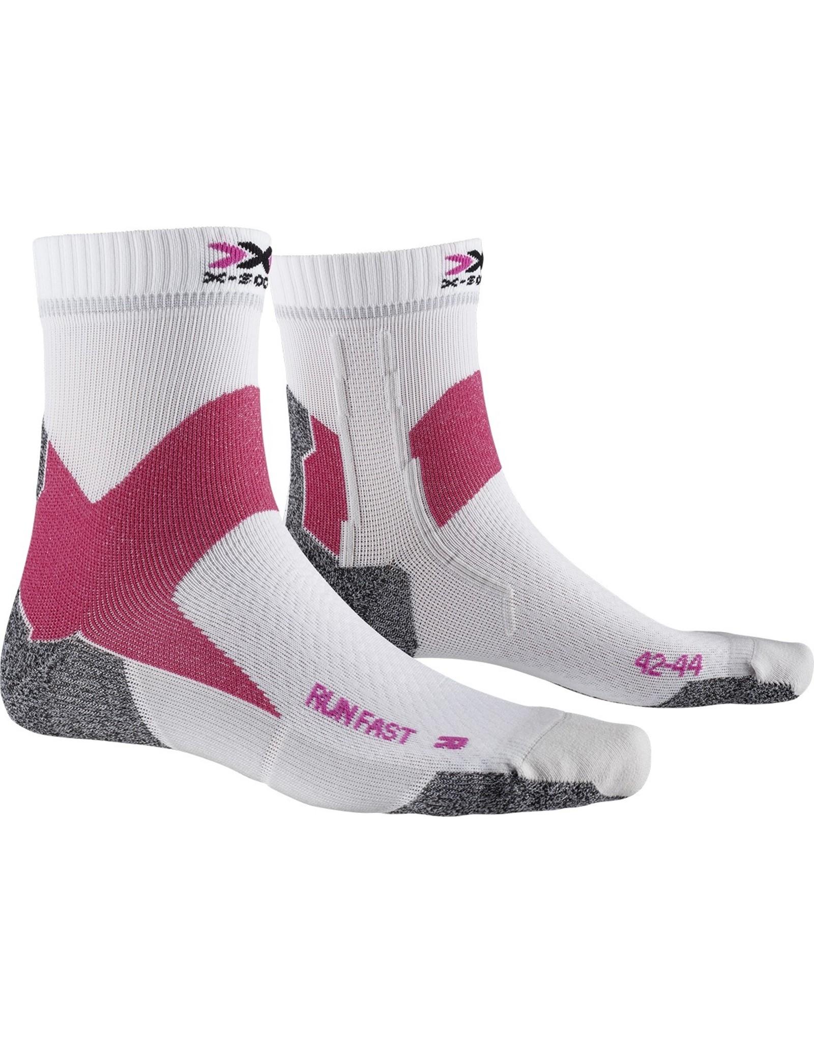 X-socks Run Fast Socks-white/pink