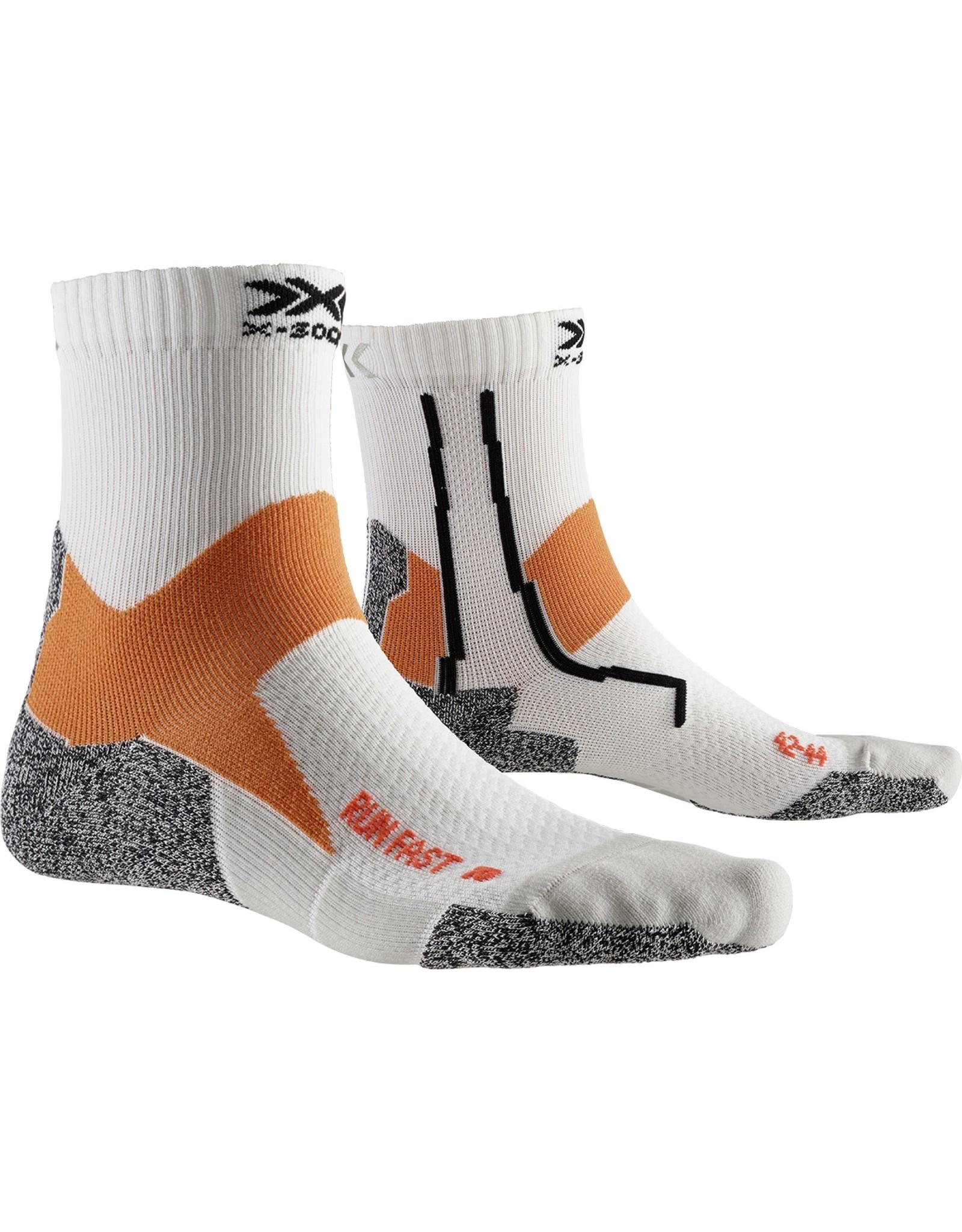 X-socks Run Fast Socks-white/orange
