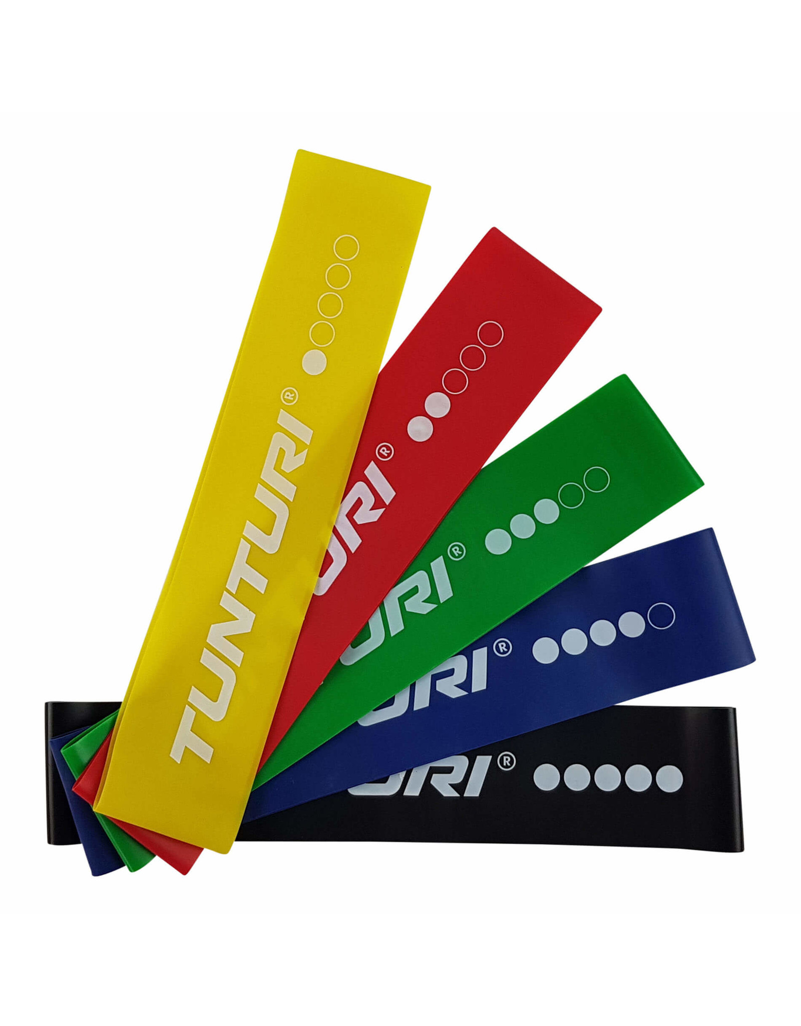 Tunturi Tunturi Mini Resistance Band Set 5pcs