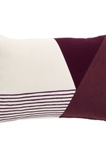Hübsch Hübsch Cushion w/filler, bordeaux 33 x 50