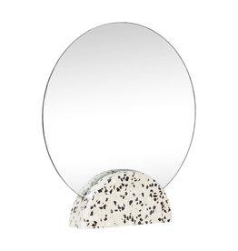 Hübsch Hübsch Mirror, round, terrazzo