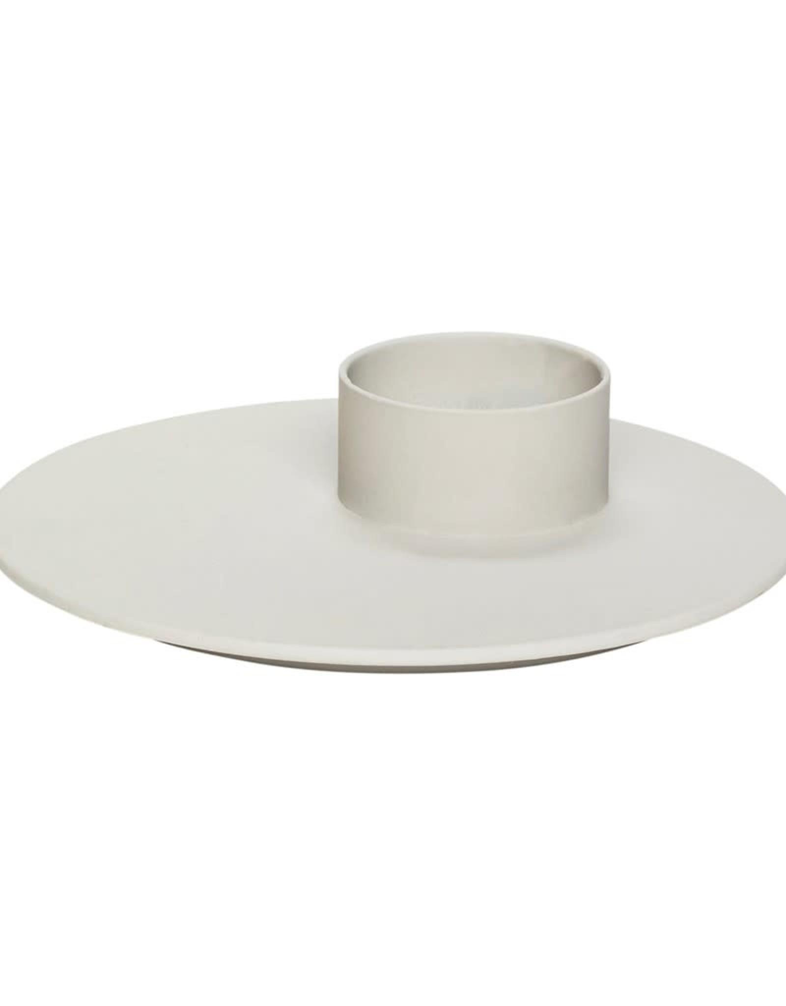 Hübsch Hübsch Tealight holder, grey ø12xh3