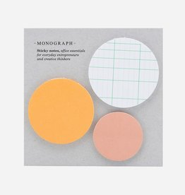 Monograph Monograph Sticky Notes, Set of 3 designs