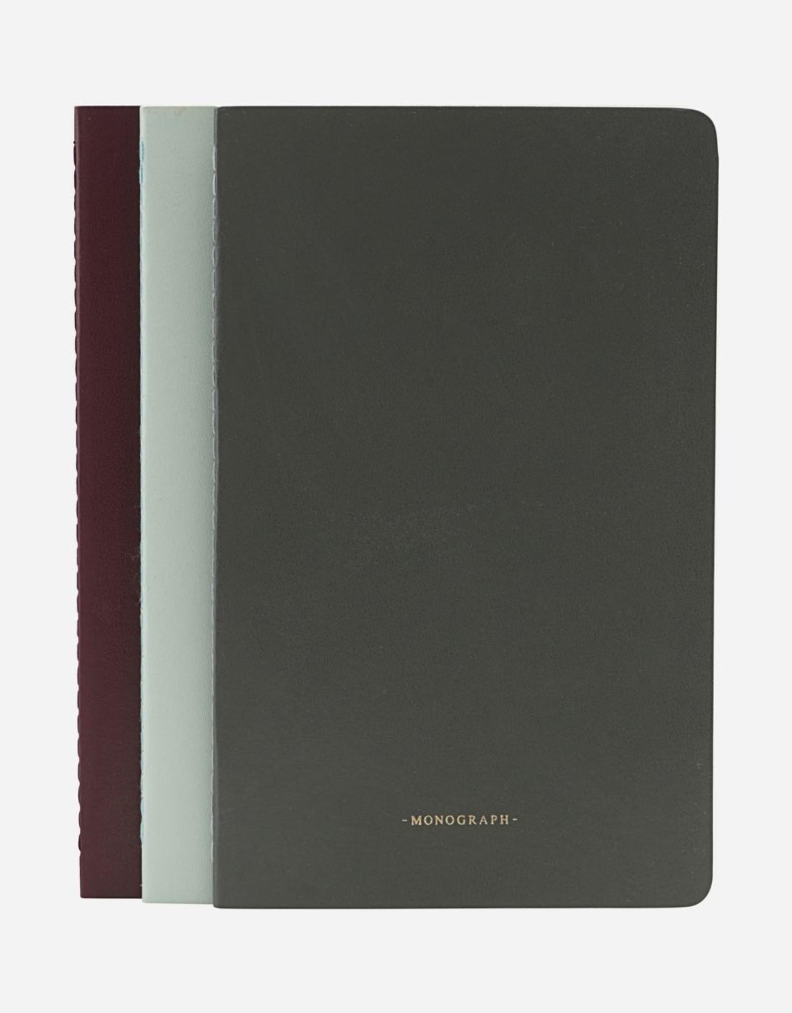 Monograph Monograph Notebooks green/grey/bordeaux 13x21cm