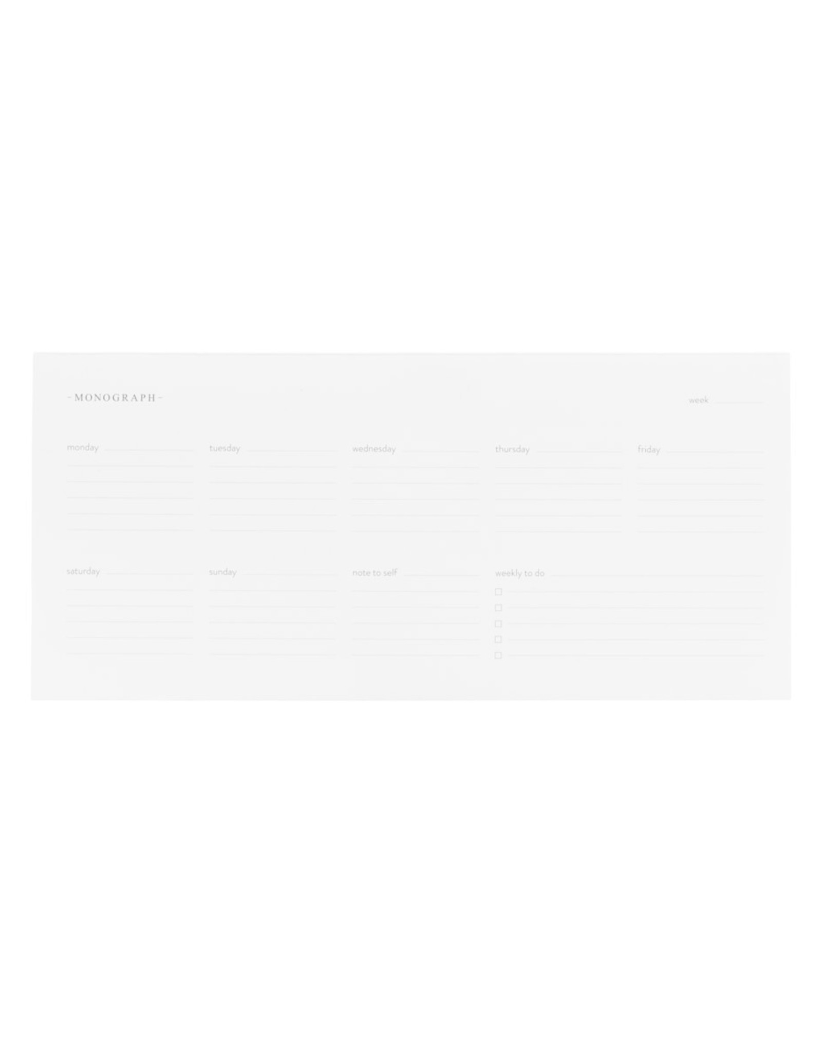 Monograph Monograph Weekly planner
