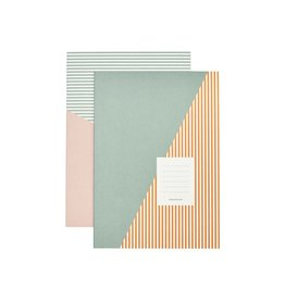 Monograph Monograph Note book Stripes Combo 3 A4 Set of 2 designs