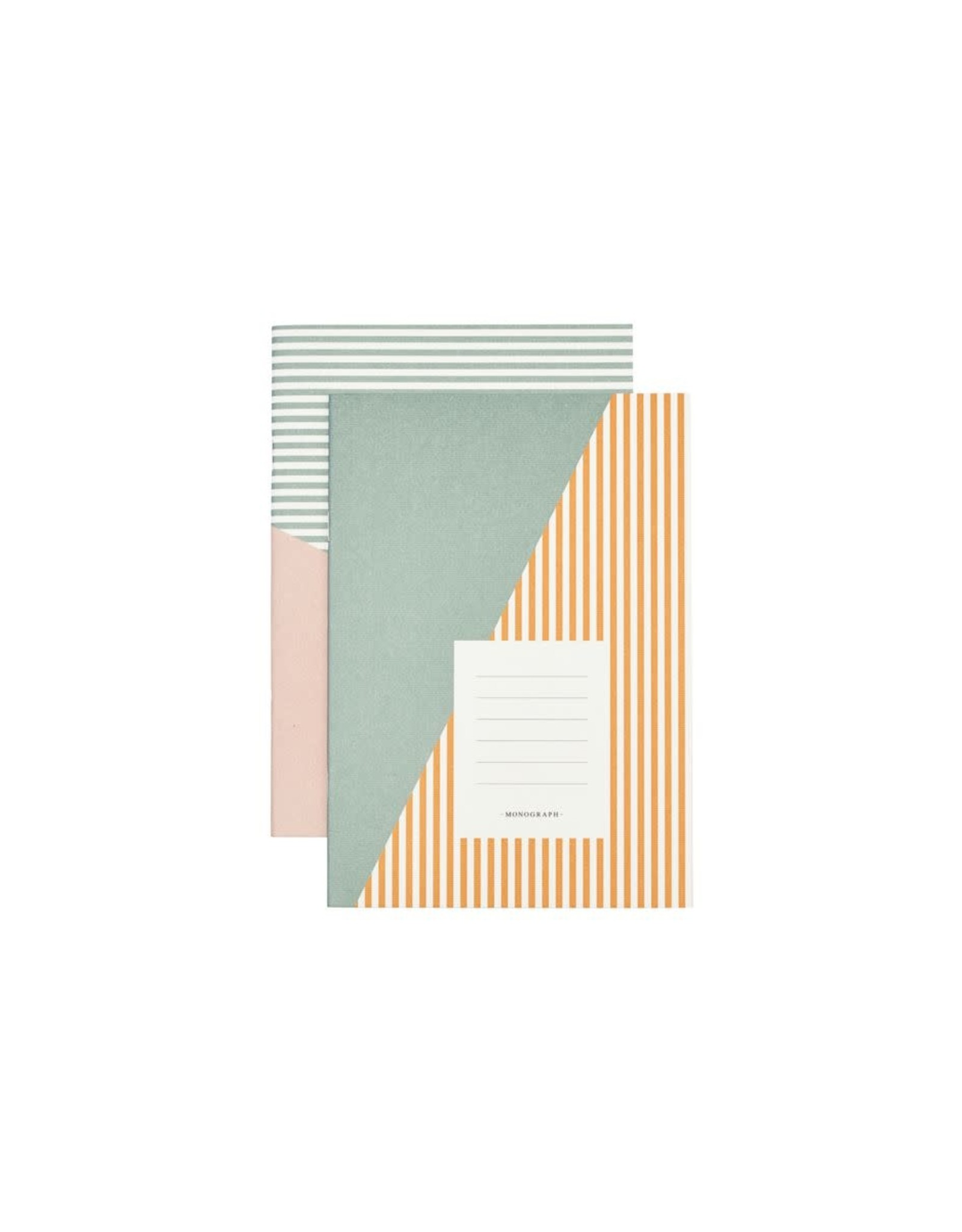 Monograph Monograph Note book Stripes Combo 1  A5  Set of 2 designs