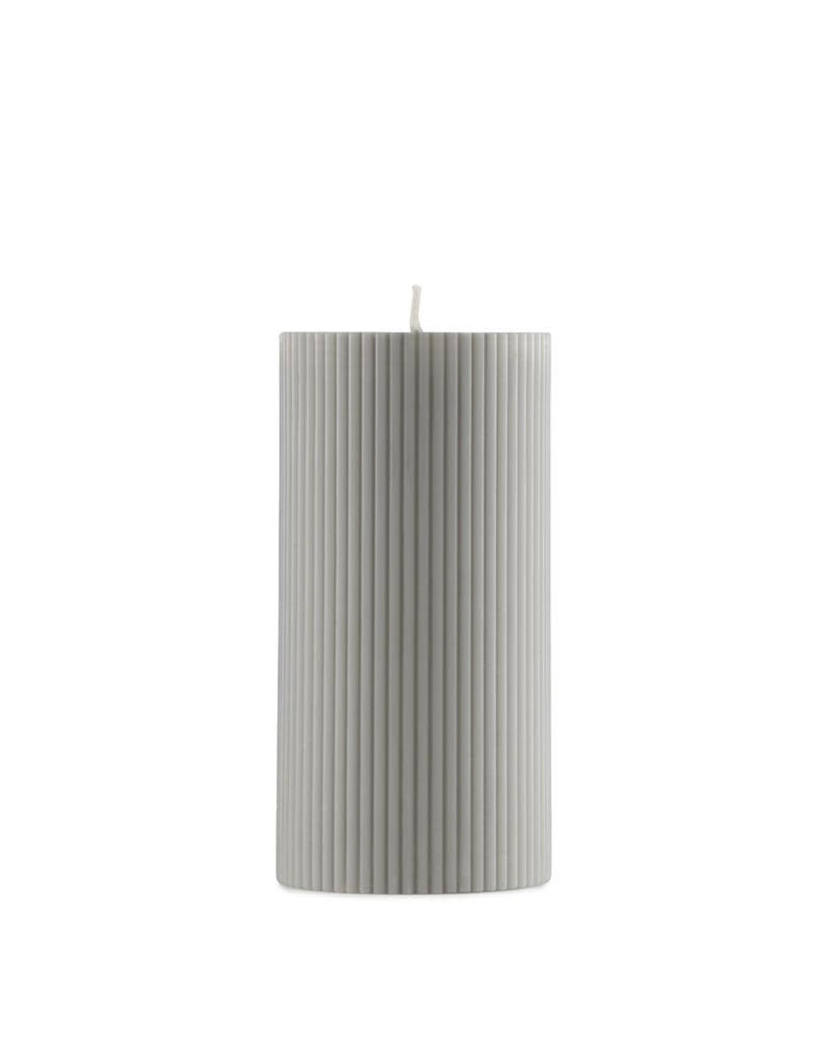 Normann Copenhagen Normann Grooved Block Candle Grey