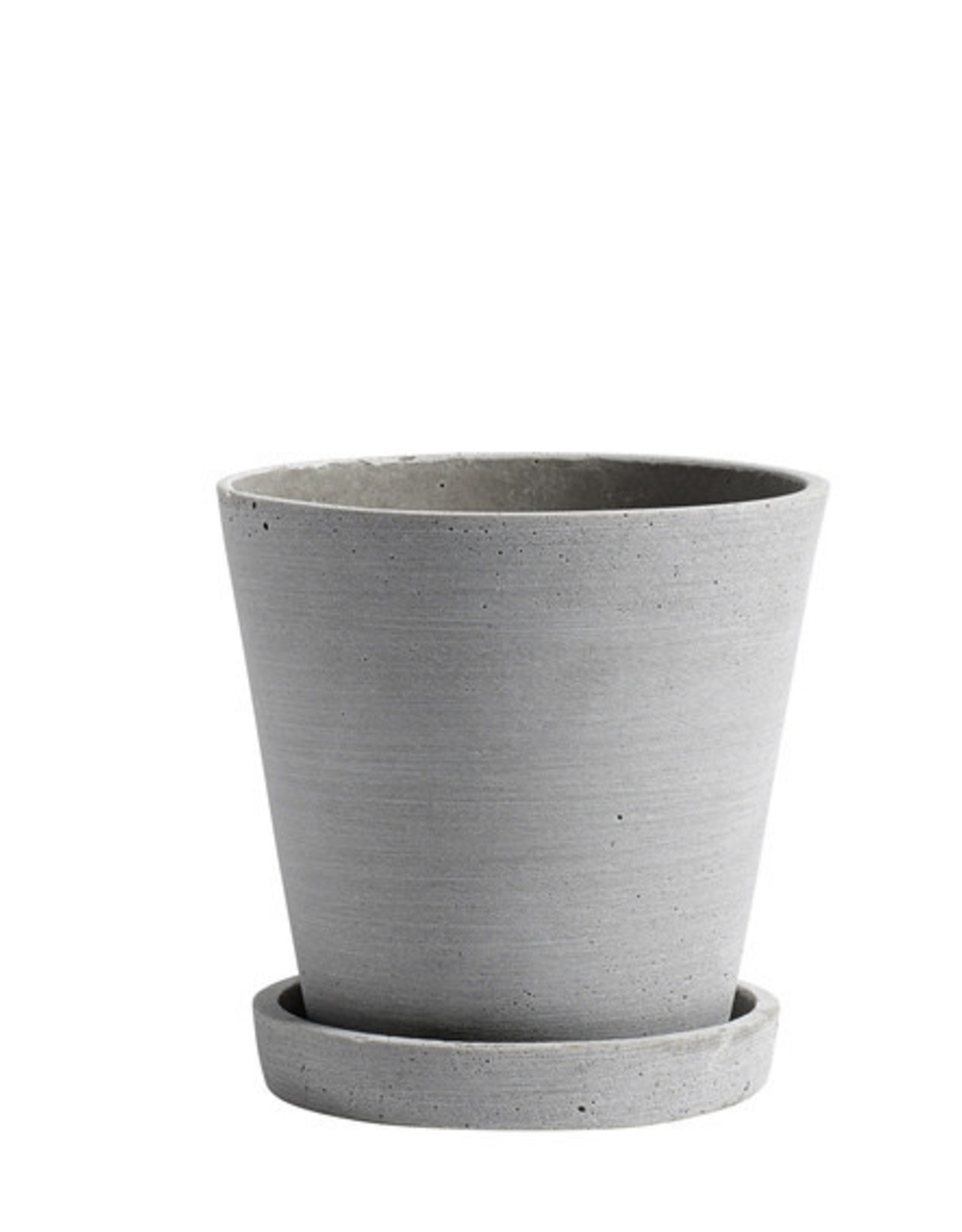 HAY HAY Flowerpot with Saucer M grey