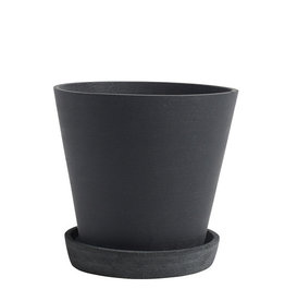 HAY HAY Flowerpot with Saucer L black