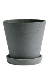 HAY HAY Flowerpot with Saucer L green