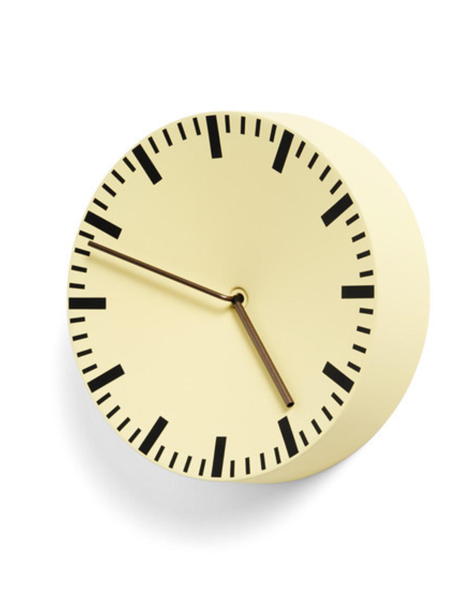 HAY HAY Analog Clock light yellow