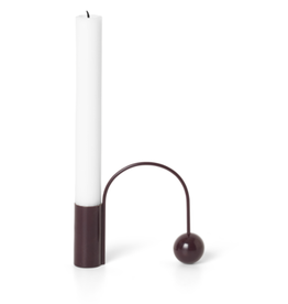 Ferm LIVING ferm LIVING Balance Candle Holder - dark aubergine