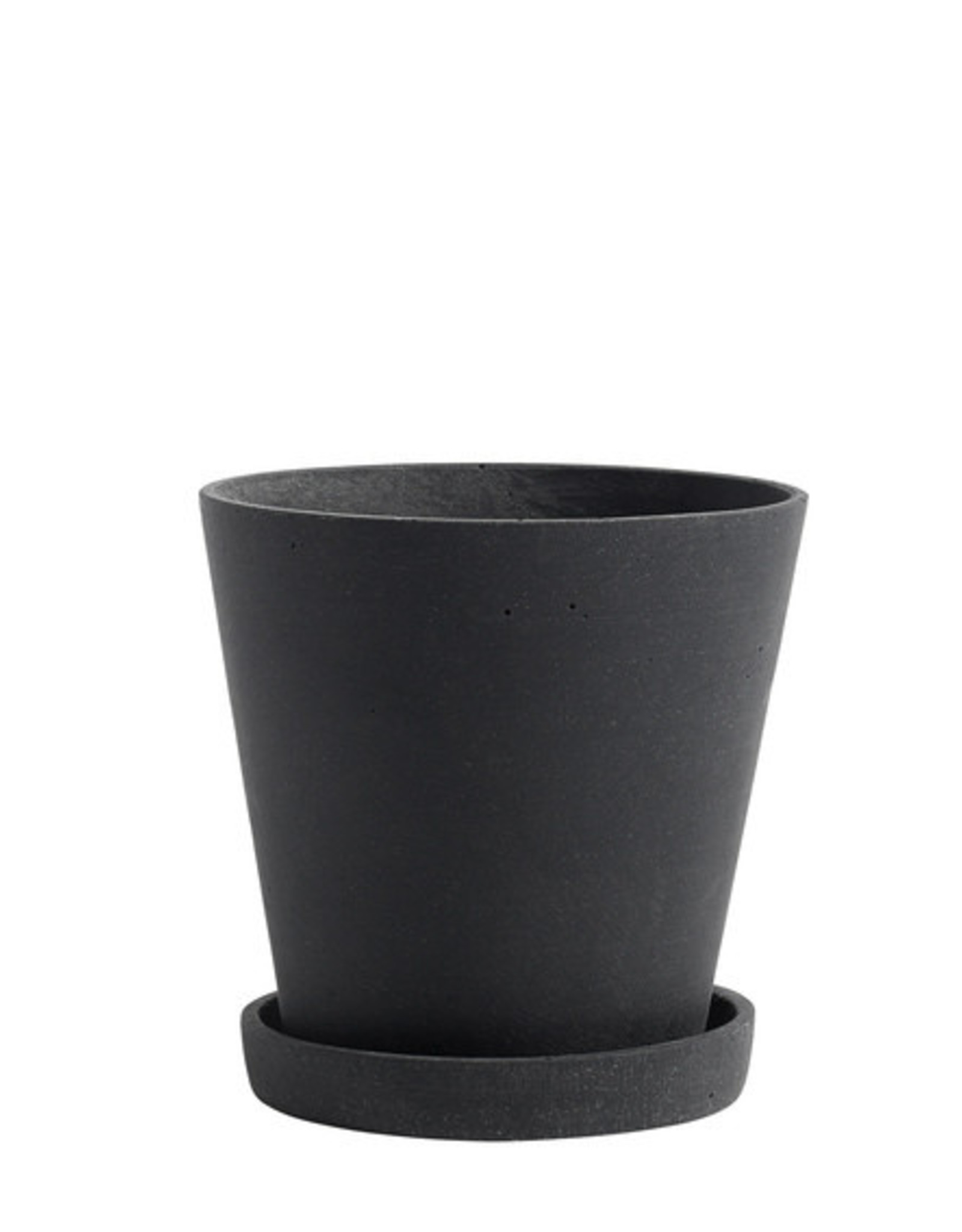 HAY HAY Flowerpot with Saucer M black