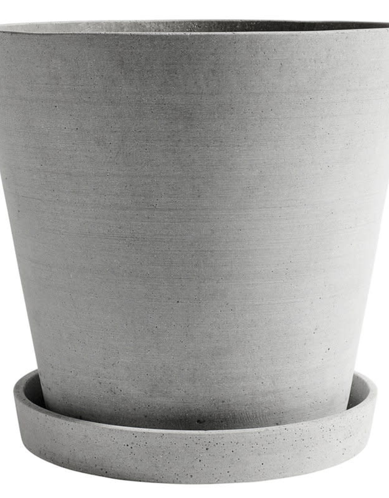 HAY HAY Flowerpot with Saucer XXXL grey