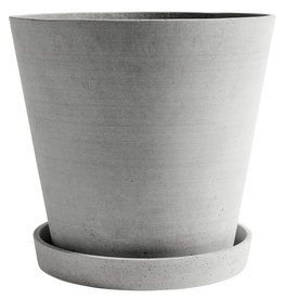 HAY HAY Flowerpot with Saucer XXXL grey