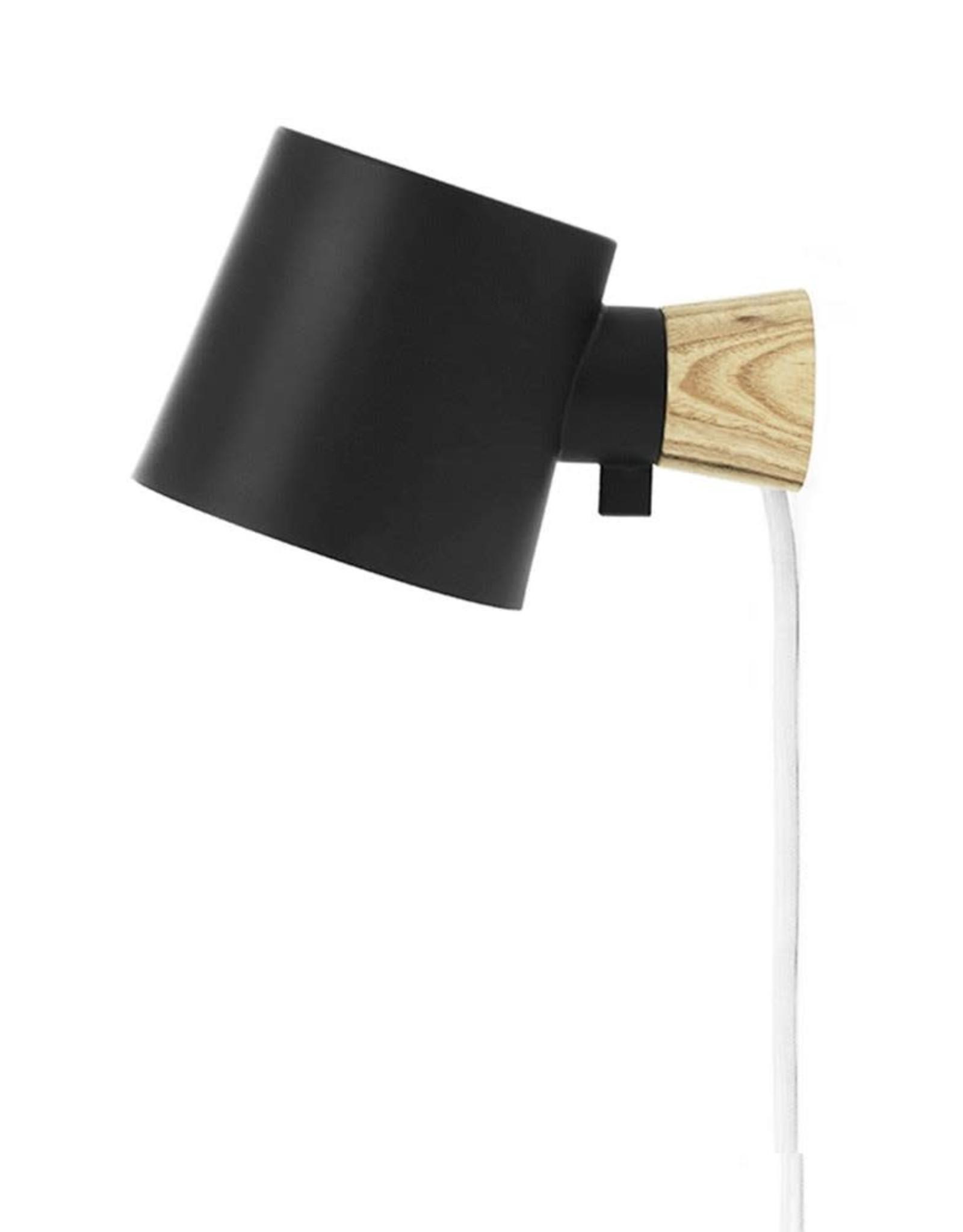 Normann Copenhagen Normann Rise Wall Lamp Black