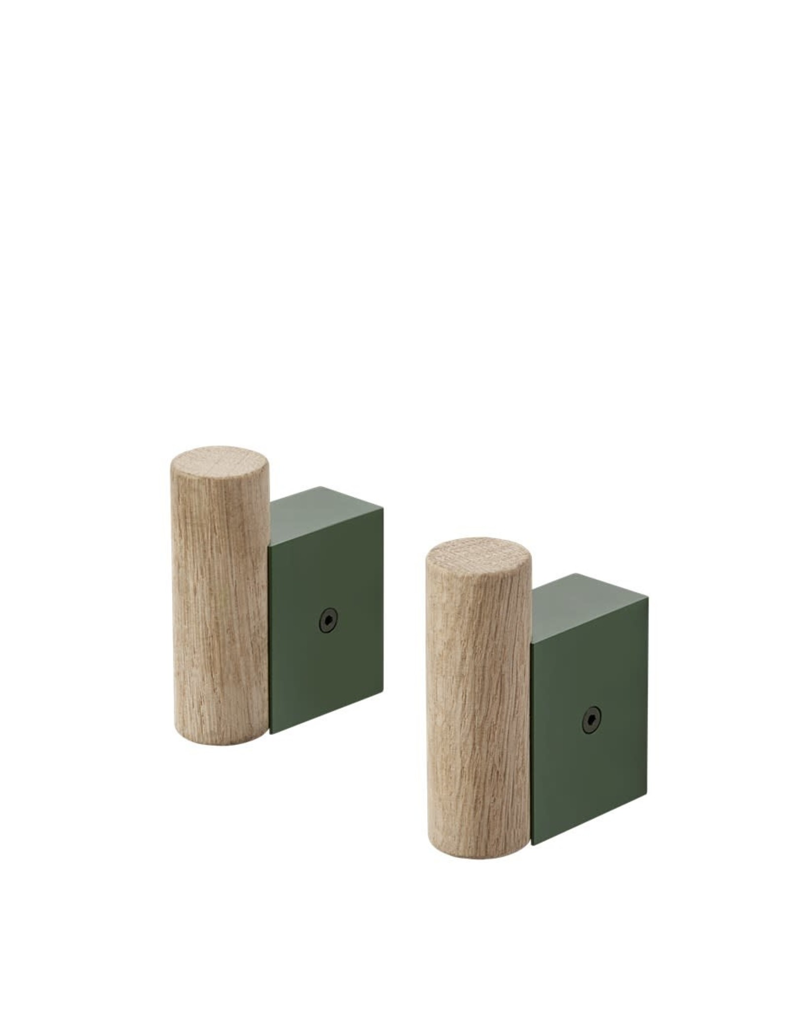 Muuto Muuto Attach Coat Hook s/2 oak/dark green