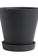 HAY HAY Flowerpot with Saucer XL Black