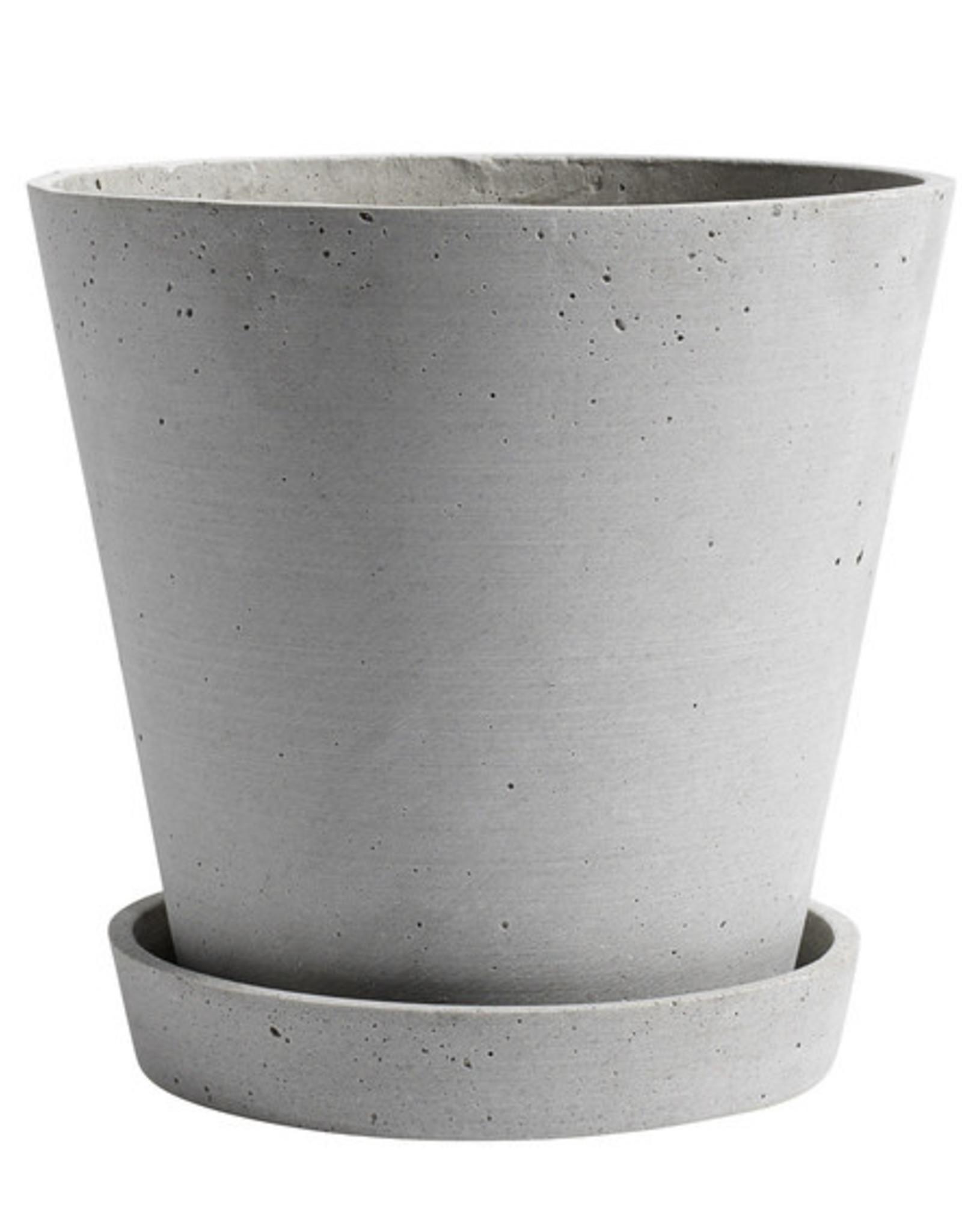 HAY HAY Flowerpot with Saucer XL Grey